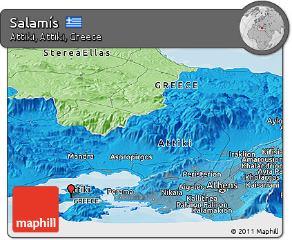 Free Political Panoramic Map Of Salamis