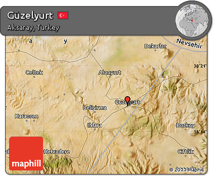 Free Satellite Map of Gzelyurt