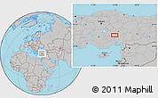 Gray Location Map of Niğde