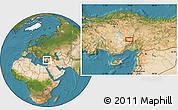 Satellite Location Map of Niğde