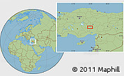 Savanna Style Location Map of Niğde