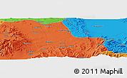 Political Panoramic Map of Niğde