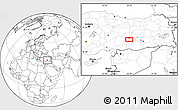 Blank Location Map of Malatya