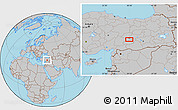 Gray Location Map of Malatya