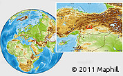 Physical Location Map of Malatya