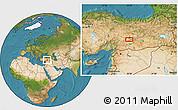 Satellite Location Map of Malatya