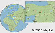 Savanna Style Location Map of Malatya
