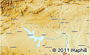 """Physical Map of the area around 38°9'19""""N,40°1'29""""E"""
