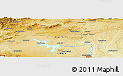"""Physical Panoramic Map of the area around 38°9'19""""N,40°1'29""""E"""