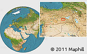 Satellite Location Map of Siirt