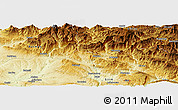 Physical Panoramic Map of Siirt