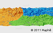 Political Panoramic Map of Siirt