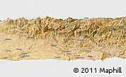 Satellite Panoramic Map of Siirt