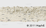 Shaded Relief Panoramic Map of Siirt