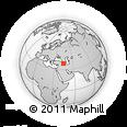 Outline Map of Bālakān, rectangular outline