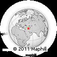 Outline Map of Tabriz, rectangular outline