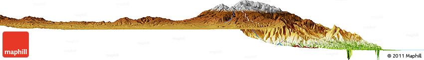 Physical Horizon Map of Ardabil