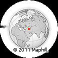 Outline Map of Ardabil, rectangular outline