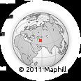 Outline Map of Kopet Dag, rectangular outline