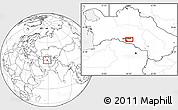 Blank Location Map of Ashgabat