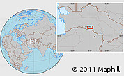 Gray Location Map of Arzuv