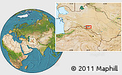 Satellite Location Map of Arzuv