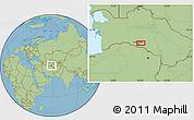 Savanna Style Location Map of Arzuv