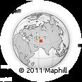 Outline Map of Halaç, rectangular outline
