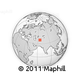 Outline Map of Egriyagyr, rectangular outline