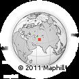 Outline Map of Sayat, rectangular outline