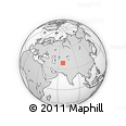 Outline Map of Baysun, rectangular outline
