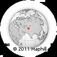 Outline Map of Danghara, rectangular outline
