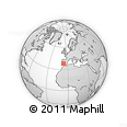 Outline Map of Jerez De Los Caballeros, rectangular outline