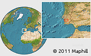 """Satellite Location Map of the area around 38°9'19""""N,8°25'30""""W"""