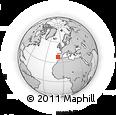 Outline Map of Melides, rectangular outline