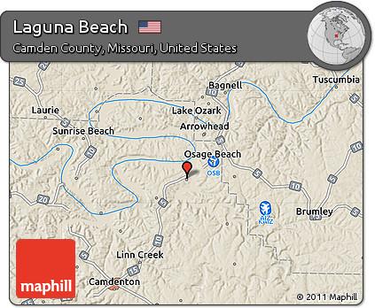 Free Shaded Relief Map of Laguna Beach