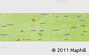 Physical Panoramic Map of Iola
