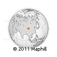 """Outline Map of the Area around 38° 9' 19"""" N, 96° 58' 29"""" E, rectangular outline"""