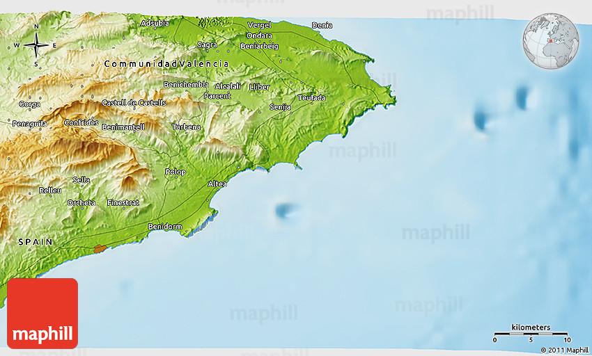 Physical 3D Map of Benidorm