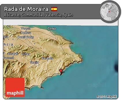 Moraira Spain Map.Free Satellite 3d Map Of Rada De Moraira