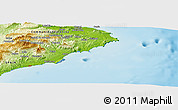 """Physical Panoramic Map of the area around 38°36'25""""N,0°4'30""""E"""