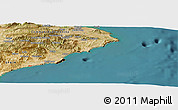 "Satellite Panoramic Map of the area around 38° 36' 25"" N, 0° 4' 30"" E"