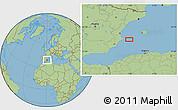 "Savanna Style Location Map of the area around 38°36'25""N,0°55'29""E"