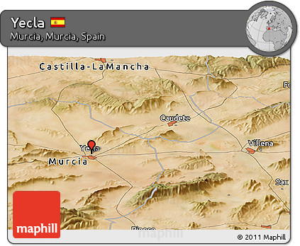 Map Of Yecla Spain.Free Satellite Panoramic Map Of Yecla