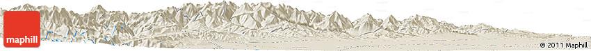 Shaded Relief Horizon Map of Shunhua