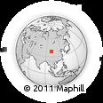 Outline Map of Shunhua, rectangular outline