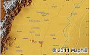 Physical Map of Yinchuan