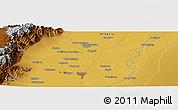 Physical Panoramic Map of Yinchuan