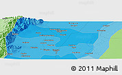 Political Panoramic Map of Yinchuan