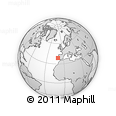 """Outline Map of the Area around 38° 36' 25"""" N, 10° 7' 30"""" W, rectangular outline"""